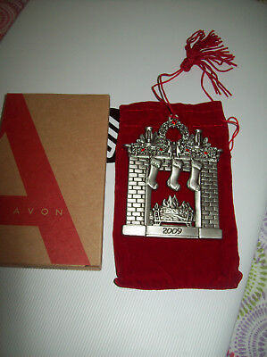 Avon Pewter Christmas Ornament 2009 with Box