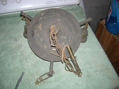 Antique brass ceiling chandelier pan lamp, for the refurbishing.