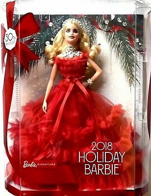 NEW 2018 Holiday BARBIE Doll 30th Anniversary Signature Collector Blonde