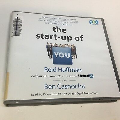 the Start-Up of You (Lib)(CD)  (ExLib) by Reid Hoffman and Ben Casnocha 6 Disks