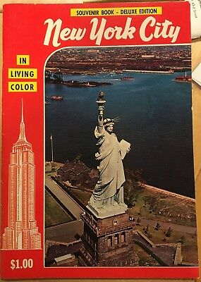 Vintage Souvenir Book - New York City & Circle Line Book & Pre 911 WTC Postcard