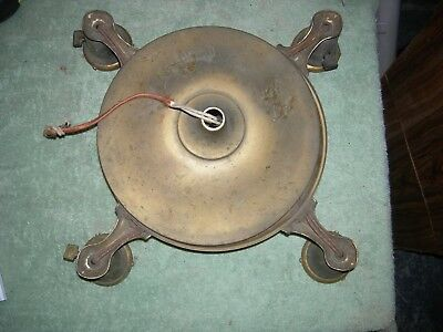 Antique ceiling chandelier pan lamp, brass! for the refurbishing.