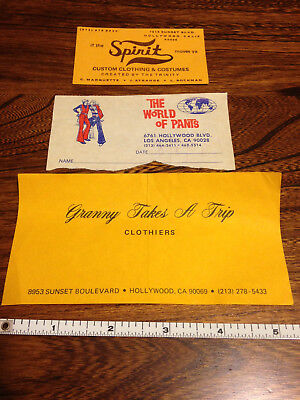 Granny Takes a Trip vintage clothing, The World of Pants, Spirit of Hollywood CA