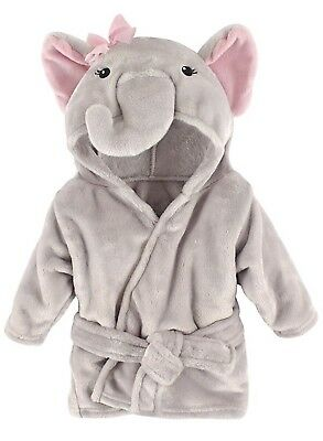40% OFF! 0/9 MO Pretty Elephant Plush Bathrobe - Hudson Baby