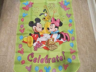 Mickey Mouse & Friends Holiday Flag ~ CELEBRATE ~  Hamilton Collection ~ Pluto