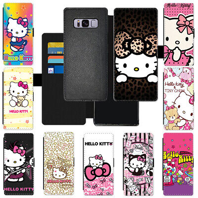 ee9d515df Colorful Cartoon Hello Kitty Flip Cover Wallet PU Leather Phone Case For  Samsung