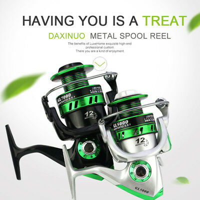 Full Metal Spinning Reel 5.5:1 10BB Durable Casting Reels 8kg/17Lb Fishing Reels