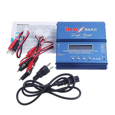 USA iMAX B6 AC Digital LCD RC Lipo NiMh NiCD Battery Balance Charger X6J4