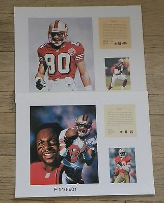 903ef4d6d3f Jerry Rice San Francisco 49ers 2 NFL11x14 Prints Pro Football Hall Of Fame  HOF