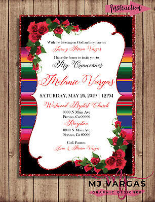 photo about Printable Quinceanera Invitations known as MEXICAN Topic QUINCEAÑTechnology Invitation Printable 15 Birthday Invitation