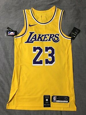 buy online 8f3c2 9a5ce LEBRON JAMES LA Lakers Nike Authentic Icon Home Jersey 40 S