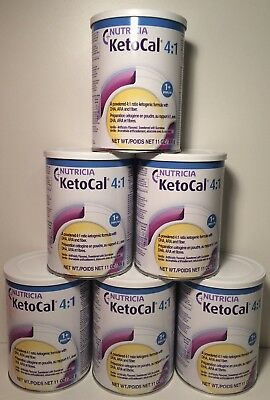 KetoCal 4:1 Vanilla Flavored Formula Case Of (6) 12 oz Cans Nutricia 12/26/19