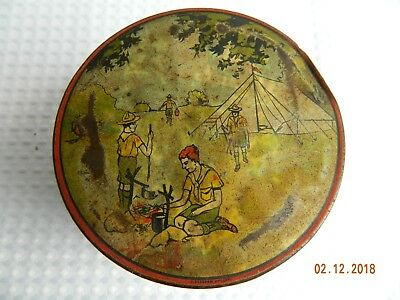 Vintage Swallow & Ariell's Biscuit Tin Boy Scout Theme