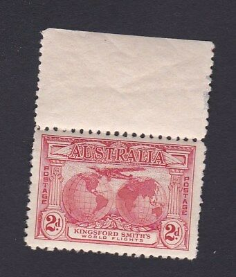 Australia 1931 2d Red KINGSFORD SMITH AIR FLIGHTS Margin and Tab MINT MUH UM