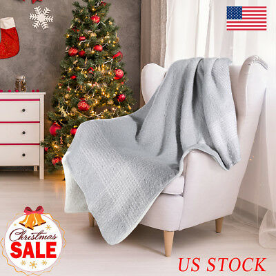 Soft Cozy Warm Plush Fuzzy Double Sided Suede Reversible Throw Sofa Bed Blanket