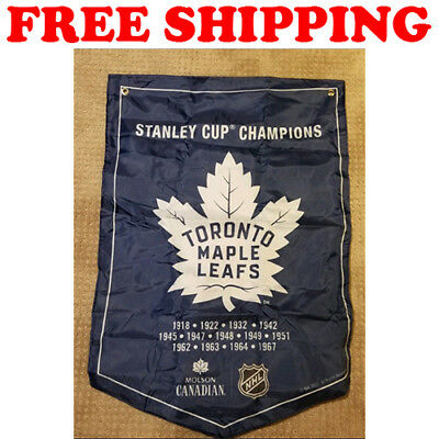 Toronto Maple Leafs Flag Molson Coors Light NHL Stanley Cup Champions Banner 3x5