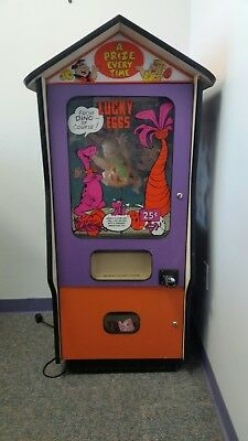 VTG Fred Flintstone Hanna Barbera 80's Flintstones Lucky Egg Vending Machine