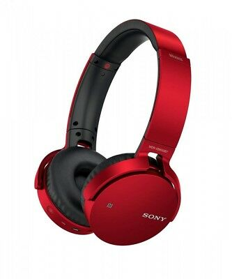 SALE Sony MDR-XB650BT EXTRA BASS Bluetooth Wireless Headphones Red With Tracking