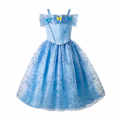 Girls Cinderella Princess Fancy Dress Cosplay Party Costume Disnei1 Outfits UK