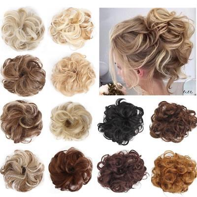 Curly Messy Bun Hair Piece Hair Scrunchie Fake Natural Extensions Hairpiece LA