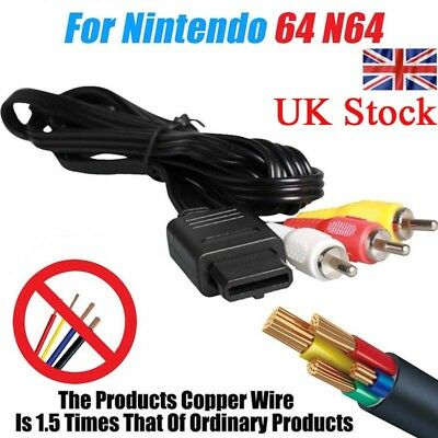 1.8M 6ft AV Composite RCA Video Cable Wire Lead For N64 Gamecube Super Nintendo