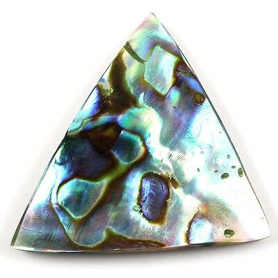 TRIANGLE 25.00 Cts Natural ABALONE SHELL 30x28 mm  Jewellery Gemstone S-6069