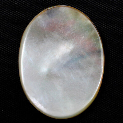 21 Cts MOTHER OF PEARL SHELL Good Quality Gemstone Oval Flat 28x21 mm S-6347