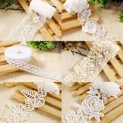 Vintage Ivory Cream Lace Bridal Wedding Trim Ribbon Craft Cotton Crochet DIY