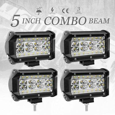 4x 5inch 280W CREE LED Work Light Bar SPOT Beam Offroad Driving Lamp 4WD 4x4 SUV
