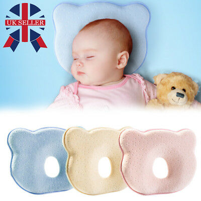 Baby Cot Soft Pillow Prevent Flat Head Memory Foam Cushion Sleeping Support