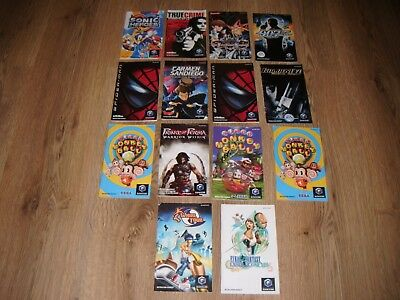 Gamecube Manual Joblot
