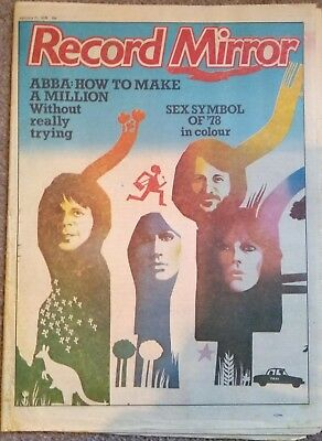 Record Mirror 21/1/78 Pistols; Bowie; Abba; Ads for Darts,Sweet,Bowie, XTC,ELO,