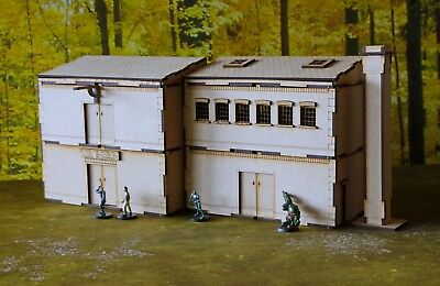 Four Building Warehouse/Factory - 28mm for Wargamers & Roleplay