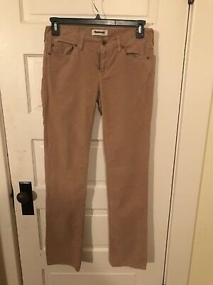 f9ced4c0d1a Madewell Womens 28 Rail Straight Corduroy Pants Khaki Tan Low Rise - Brand  New