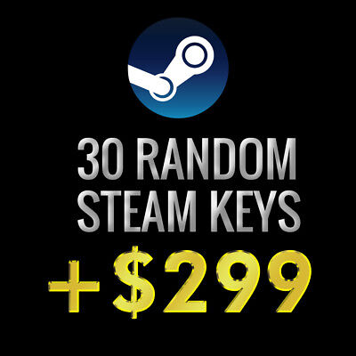 30x Random Steam Keys + 1 GOLD Key | Value up to $299* | Fast Delivery!**
