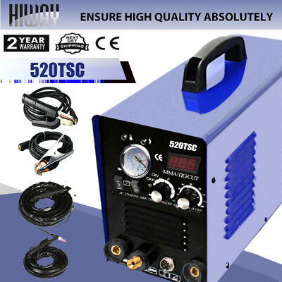 520TSC TIG MMA Welder Machine 110/220V 200A DC Inverter Welding Plasma Cutter