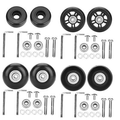 2PCS Rubber Luggage Suitcase Wheels Replacement Axles Repair OD 42/46/70mm New S