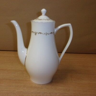 Royal Worcester China Gold Chantilly Coffee Pot Tableware Gold White
