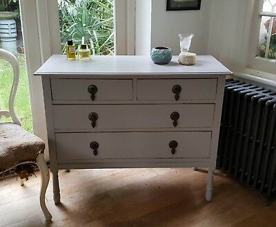 Antique Grey Hand Painted Chest of Drawers Farrow &  Ball