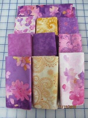 Beautiful In Violet And Pink Disappearing 9 Patch Quilt Top Kit