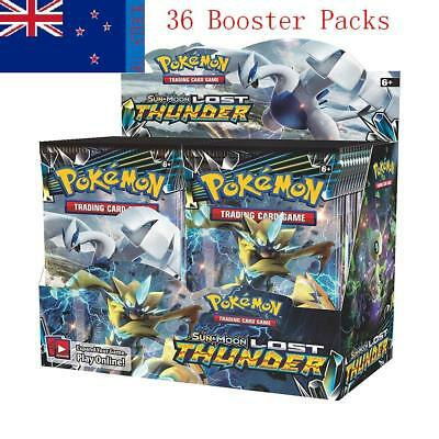 Pokemon TCG Sun & Moon Lost Thunder Booster Box 36 Booster Packs SEALED Hot sell