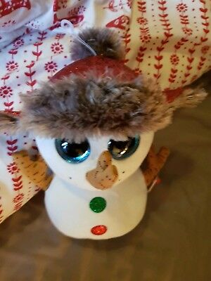 278ab86d1f6 Large Ty Beanie Babies Boos Buttons the Christmas Snowman Boo Buddy 23cm  9inch