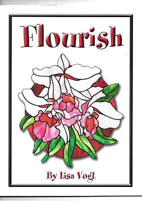 Flourish stanined glass pattern book by Lisa Voigt