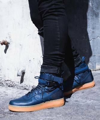 official photos 08a12 134d2 Nike SF Air Force 1 HI Game Royal Blue Suede Men s Trainers Boots 864024 UK  9