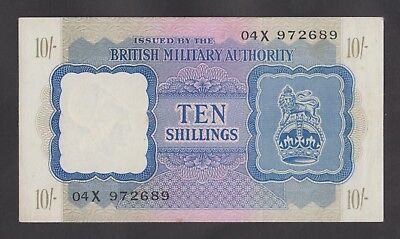 GREAT BRITAIN 10 Shillings 1943 AU WWII - BMA  Letter 04X 972689  ULTRA RARE