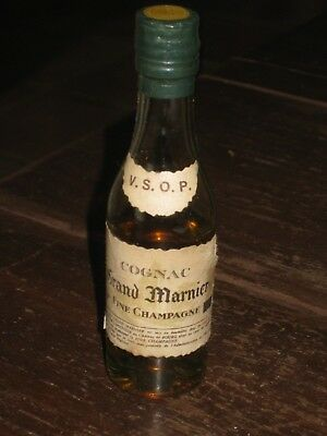 mignonnette OLD MINIATURE COGNAC mini bottle grand marnier 3cl