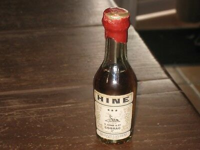 mignonnette OLD MINIATURE COGNAC mini bottle hine 3cl
