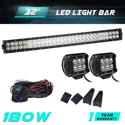 "32"" 180W LED Work Light Bar Combo Beam Offroad Boat Truck SUV 4WD Fog For Jeep"