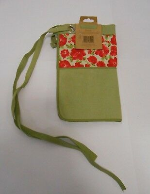 Laura Ashley Garden Cressida Tool Apron with Key Fob & Mobile Phone Pouch - New