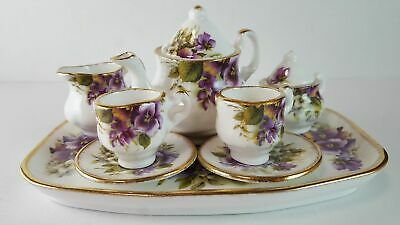 Florence Collectables Fine Bone China Made in England Miniatur Teeservice